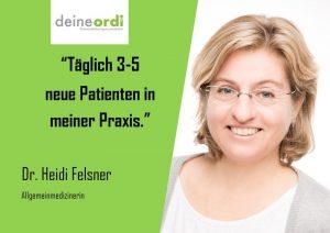 Read more about the article Vor 2 Jahren übernahm Frau Dr. Felsner eine bestehende Praxis inkl. Patientenstamm. Zentrale Lage, aber dennoch etwas versteckt.