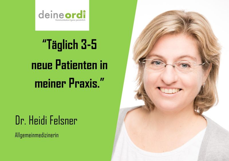 You are currently viewing Vor 2 Jahren übernahm Frau Dr. Felsner eine bestehende Praxis inkl. Patientenstamm. Zentrale Lage, aber dennoch etwas versteckt.